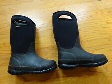 Kid's Bogs Waterproof Classic Black Boots Size 13