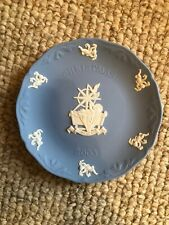 Wedgewood Jasperware Christmas Plate 2003, Mint in Box