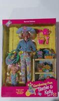 Vintage Gardening Fun BARBIE & KELLY Gift Set Special Edition 1996