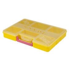 Boites de rangement jaunes en plastique pour la maison