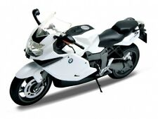 BMW K1300s White 1/10 Diecast Metal Motorcycle Model by Welly 62805w