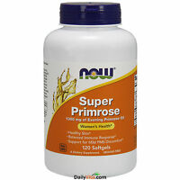 NOW Super Evening Primrose Oil 1300 mg 120 SGels, Women's Health, FRESH USA Made