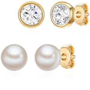 Rafaela Donata Damen Schmuckset Sterling Silber mit Kristallen von Swarovski®