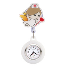 JSDDE Women's Girl's Nurse Clip-on Fob Brooch Hanging Pocket Watch Silicone -