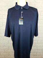 FeatherLite Moisture Free Wicking Blue Sport Polo Mens XL Shirt Short Sleeve NWT
