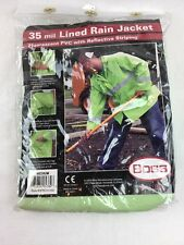 Boss Lined Rain Jacket Fluorescent PVC With Reflective Stripping 35 Mil Medium