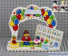 LEGO - Birthday Set w/ Girl Minifigure & Presents Cake Topper Table Centerpiece