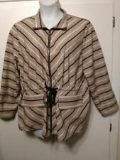 NWOT ZENERGY by CHICO'S Striped Drawstring Waist Zip Jacket 3