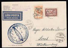 Zeppelin 1931, Landungsfahrt nach Ungarn 31.3.31 , Sieger 102 Ba