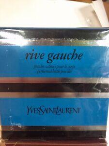 Vintage YSL Rive Gauche Body Dusting Powder 150g/5.2oz - Sealed From New. Rare