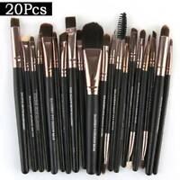 20pcs Makeup Brushes Kit Foundation Eyeshadow Eyeliner Lip Nylon Brush Tool - UK