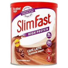 Slim Fast Diet Café Latte Milkshake Powder Meal Replacement For Weight Control