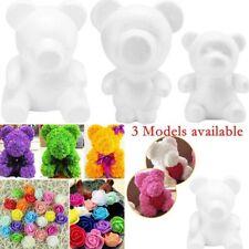 White Polystyrene Styrofoam Foam Bear Modelling DIY Valentine Birthday Gifts
