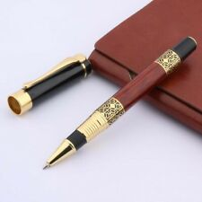 golden Imitation wood Emboss Pattern red metal gift Rollerball Pen