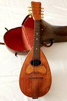 Antique Mandolin,  Elias Howe Co., Academy Bow Back with Original Case Good Cond