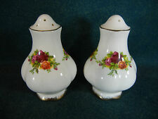 "Royal Albert Old Country Roses Montrose 3"" Salt and Pepper Shaker Set - England"