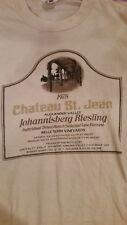 CHATEAU ST. JEAN Kenwood Sonoma CA 1978 Johannisberg Riesling vintage shirt LG