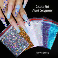 Nail Art Colorful Flakes Holographics Butterfly Nail Glitter Sequins Decoration