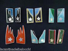 Lotto 6 Coppie mostrine da bavero camicia anni 50/60 in Metallo Orig. E.I.