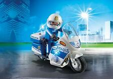 Playmobil 6923 - Police Motor Bike with LED Light and Police Officer City Action