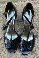 Marks And Spencer Patent Black Shoes Size Uk 8 Womens