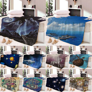 Fleece Blanket Throw Air Conditioning Blanket Bedding Sheet Wall Tapestry