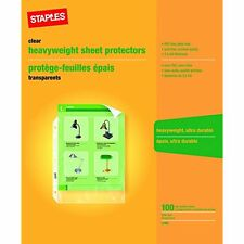 Sheet Protectors Card & Photo Sleeves Heavy-Duty 100 Sheets Letter Size