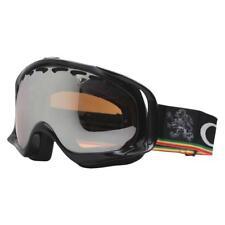 Oakley 02-659 TANNER HALL CROWBAR Metallic Black Iridium Mens Snow Ski Goggles .