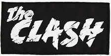 THE CLASH BLACK SEW ON PATCH DIY PUNK ROCK JOE STRUMMER ENGLISH