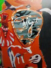 TED NUGENT Trample-Hurdle Tour orange marble guitar pick