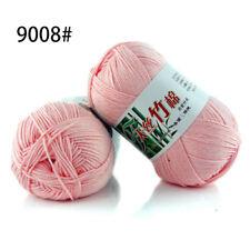 60 Colors Soft Bamboo Crochet Cotton 50g Knitting Yarn Baby Knit Wool Yarn a08
