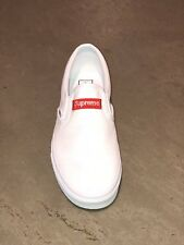 4f9a94fa3c4 SUPREME VANS Custom True White 666 Classic Slip-On All Sizes