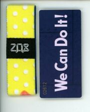 Small ZOX Silver Strap WE CAN DO IT Wristband with Card Reversible