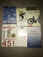 Lot Set 6 Of High School Books Required Reading Animal Farm, Giver Fahrenheit