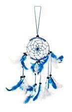 Traumfänger / Dreamcatcher - 35cm x 9cm - Weiß / Blau
