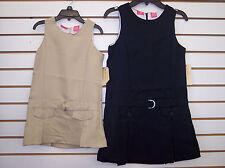Girls Dockers School Uniform Jumper Dress Khaki & Navy Size 4-16