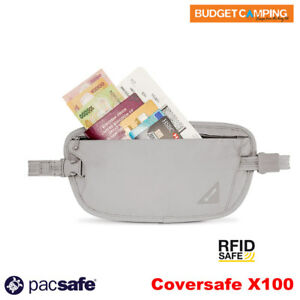 Pacsafe Coversafe X100 anti-theft RFID blocking waist wallet Black Money Belt