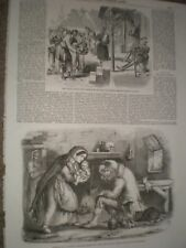 New Year's Day in India & Irish peasantry The Fairy Doctor 1859 prints ref AU