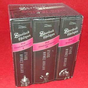 Arthur Conan Doyle - Sherlock Holmes - sämtliche Werke in 3 Bänden - im Schuber