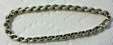 Silver Etched Chain Link Bracelet Beautiful Old English Antique Chased Ste