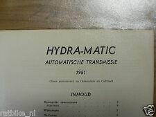 TECH10-HYDRA-MATIC AUTOMATISCHE TRANSMISSIE 1951(OLDSMOBILE,CADILLAC) INFO TECHN