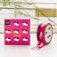 House Cat Washi Tape 15mmx10m Roll Decorative Sticky Paper Masking Tape Adhesive