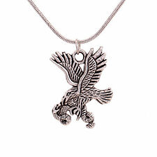 Tibetan Silver Jewelry Eagle Catch Snake Pendant Chain Sweater Necklace Women