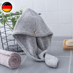 1-10x Schnelltrocknend Haar Trocknendes Turban Haartrockentuch Handtuch Kopftuch