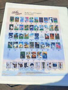 44 Bella Sara Card Copper binder+ checklist + 2 Horse Figures Very Good Conditio