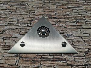 Klingeldrücker Schelle Metall Dreieck Edelstahl REV - DÜWI Klingelplatte Klingel