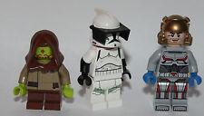 LEGO original PARTS - STAR WARS - 3 custom REPUBLIC CITIZENS - clone assassins