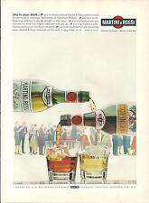 Publicité 1965 Martini & Rossi alcool verre glass bouteille bottle advertising