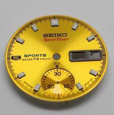 Yellow Dial for Vintage Rare seiko 5 Sport pogue chro watch 6139-6000 Speedtimer
