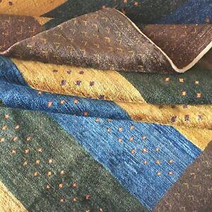 Perserteppich Exklusive Kashkuli Teppich Handgeknüpft Braun Gelb Grün Blau Rug